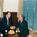 岸信介元首相と会談